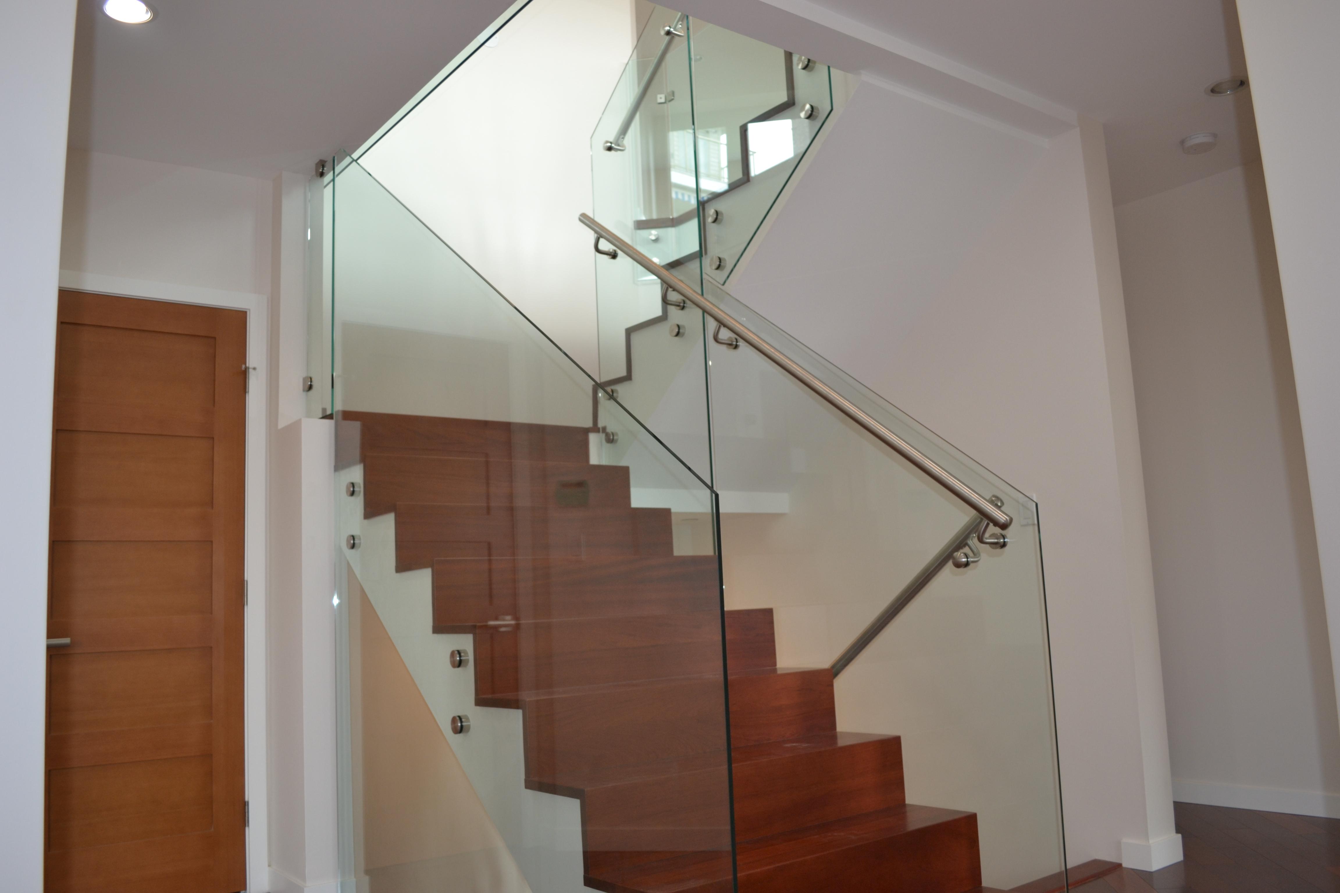 Interior frameless glass railings standoffs kristy glass